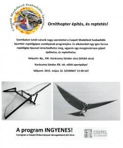 Ornithopter építés és reptetés